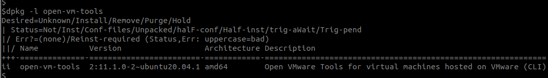 open-vm-tools-service-installed
