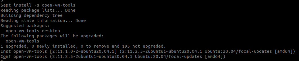 open-vm-tools-upgrade-available