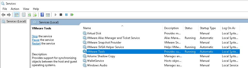 vmware-tools-windows-services