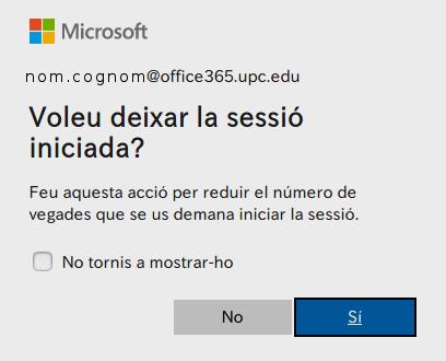 Deixar sessió inciada a Microsoft