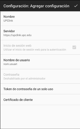 F5 Access Android Client - UPClink User Configuration